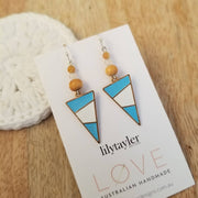 Tribal Blue Earrings