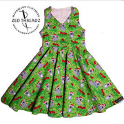 Festival Dress - Easter Fabric (Size 1 to 6)