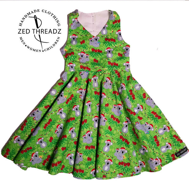 Festival Dress - Easter Fabric (Size 7 to 12)