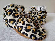 Leopard soft soled winter boots