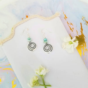 Larimar Swirl Earrings