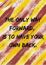 The Way Forward A6 Affirmation Postcard