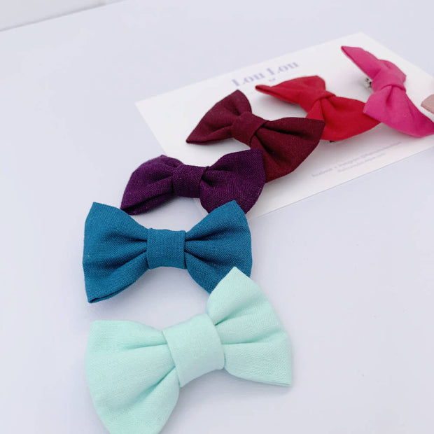 40% off || Rainbow Set of 9 Small Bows || Clips