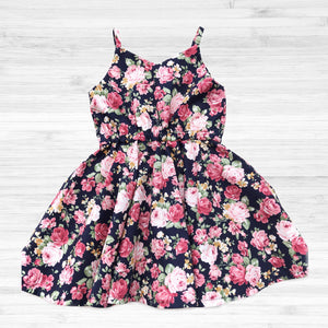 Hannah Dress - Navy floral Size 4