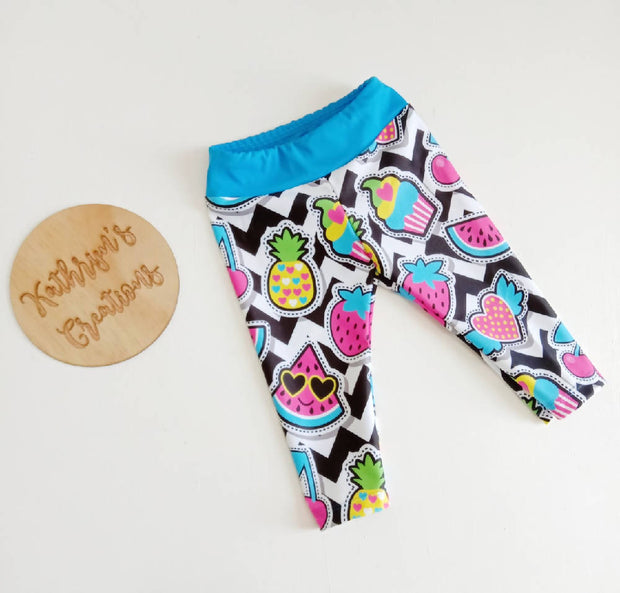 Girls' Funky Fruit Sports Leggings - Size 2