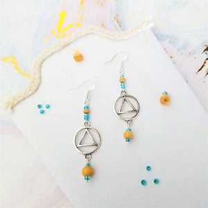 Triangle Air Charm Earrings