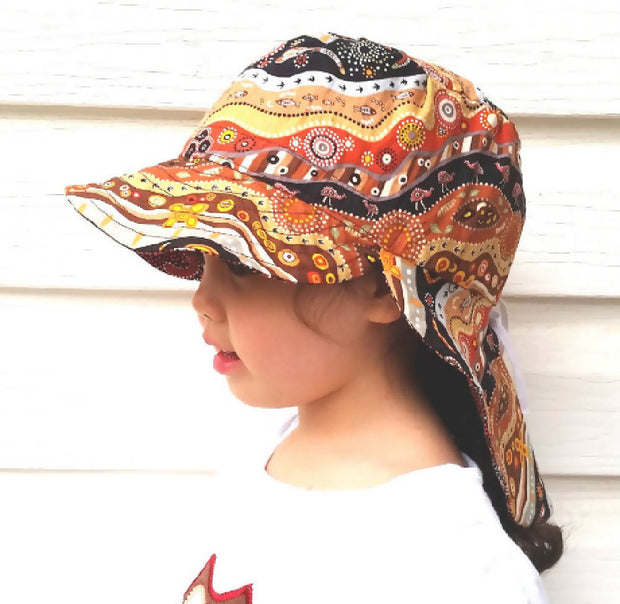 Adjustable Sunhat - Indigenous Mullawa Emus