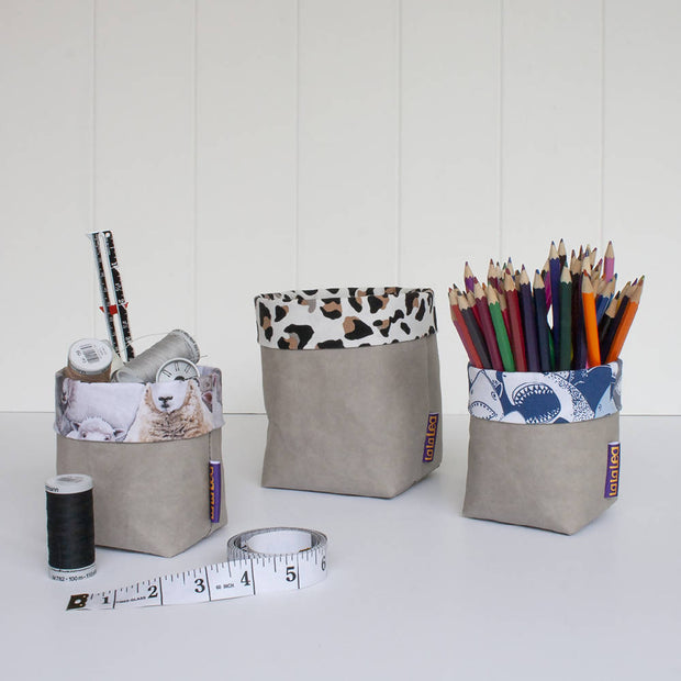 Paper Pots - Stone Grey Washable Paper