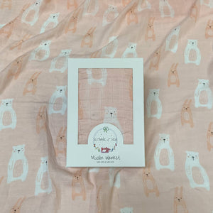 Muslin Blanket - Bunny and Bear