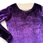 Purple Velvet Long Sleeved Leotard