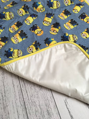 Minions Burp Cloth & Portable change mat baby set