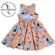 Festival Dress - Licensed Fabric (Size 1-6) February PRE-ORDER