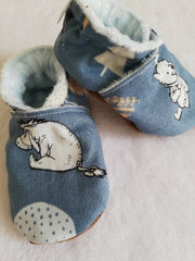 Pooh bear blue soft soled shoes