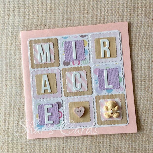 Precious, Miracle, Patchwork Baby cards