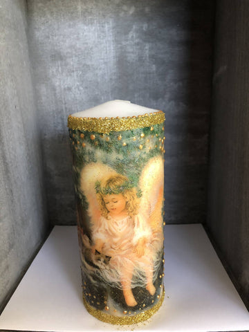 Christmas Angel Candle - Medium