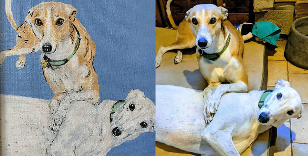 Custom Pet Portrait - Two Pets