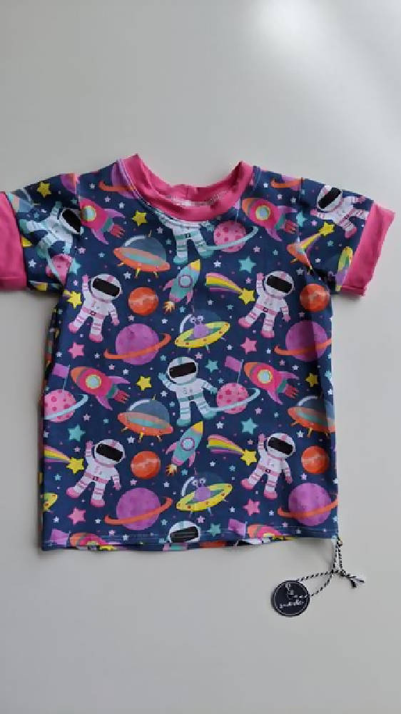 Size 2 'i wanna be an astronaut' tee