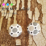 Dotty Fabric Button Earrings
