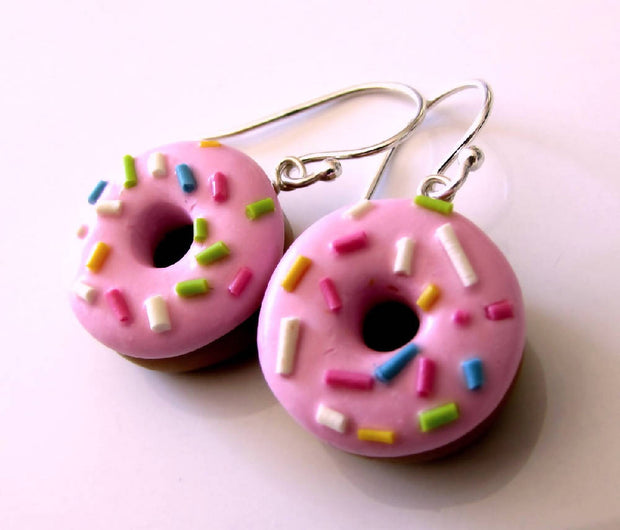 Doughnut with Sprinkles Earrings