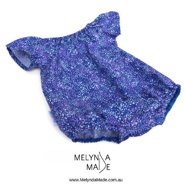 MelyndaMade Handmade Seaside Playsuit -Utopia Bush Plum - Multiple Sizes