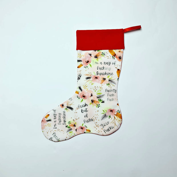 Personalised Christmas Stocking - Adult themed