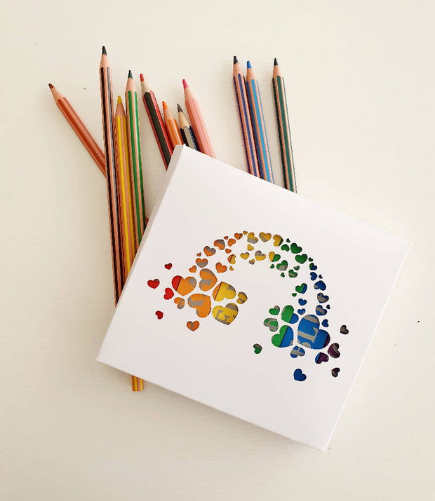 Wooden Rainbow Pencil Shaped Magnet Set