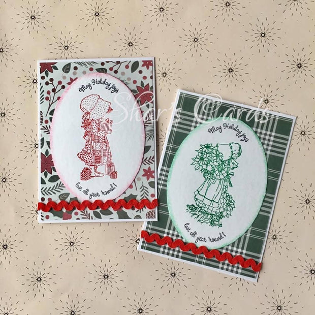 Holly Hobbie Christmas Cards, 2 pack