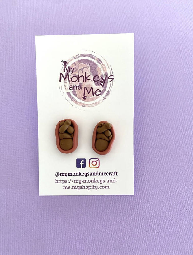 Womb stud earrings