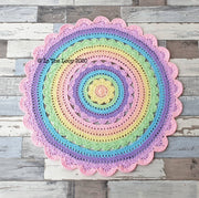MADE TO ORDER Stunning 80cm Pastel Rainbow Floor Rug