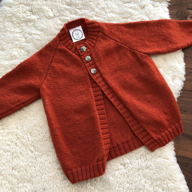 Rust Plain Cardigan
