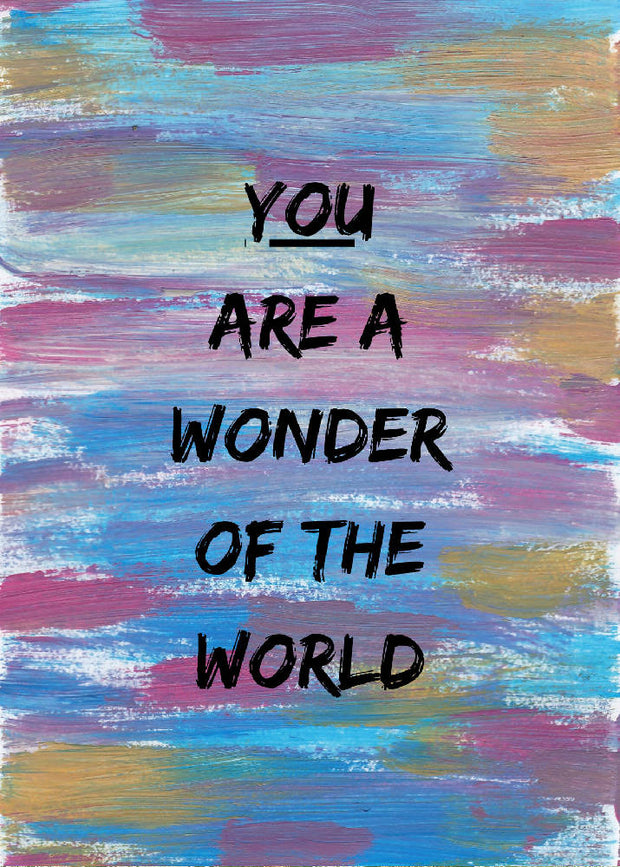 Wonder A6 Affirmation Postcard