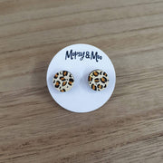 Hand-painted Leopard Print Earrings