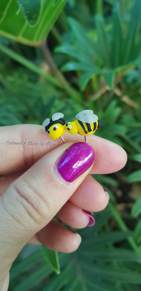 Bumblebee Bee Stud Earrings