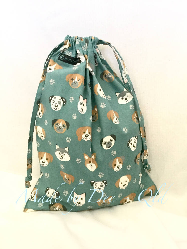 Drawstring Bag & Hanging Washer Set - PUPPY PALS
