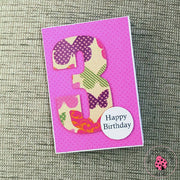 BIRTHDAY NUMBER CARD 3