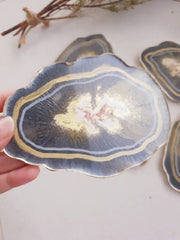 Geode Resin Coasters, perfect dining table decor.
