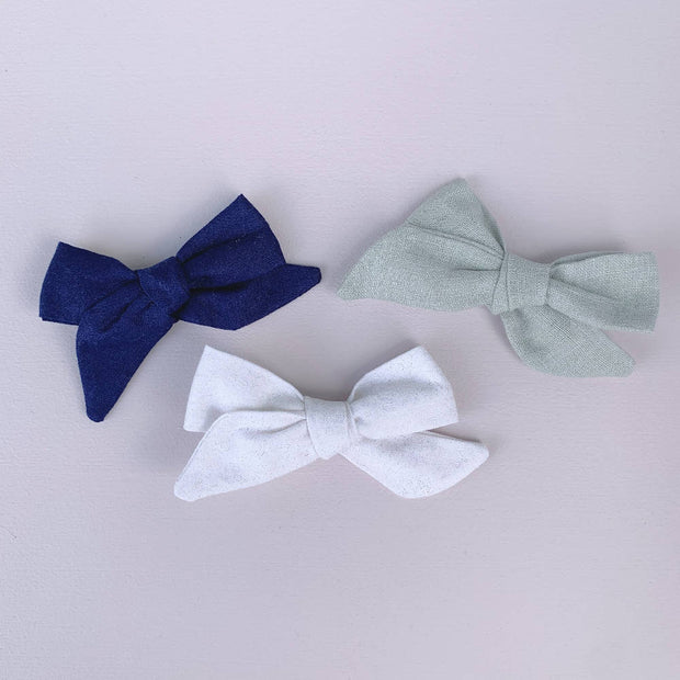 3 Hand Tied Bows || Clips - Set #23