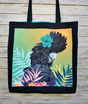 "Marketbag ""Blue Cockatoo with flower"""