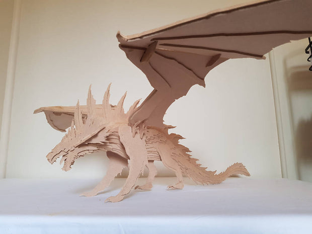 Welsh Dragon 3D Wooden Toy Model