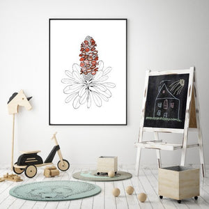 'Banksia Babe' in Earth – Fine Art Print by Xanthe Grundy of Wife-made