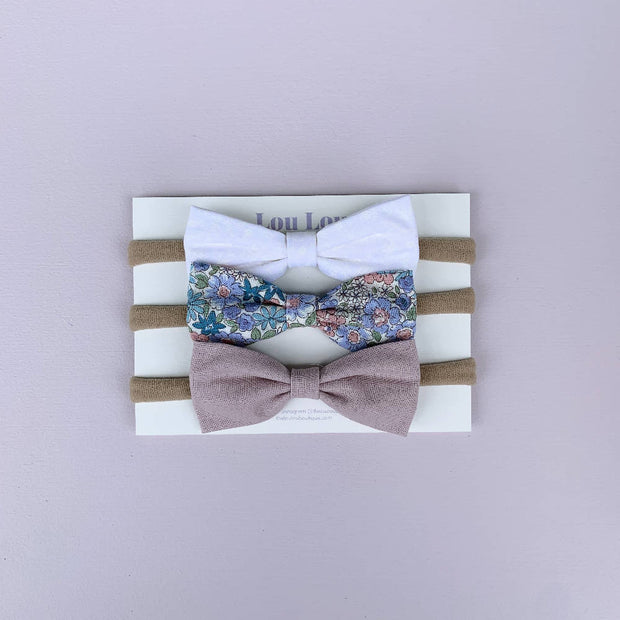 3 Large Bows || Headbands - Set #15