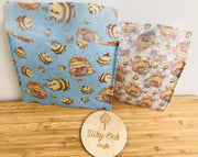 Reusable Beeswax Wrap Pouches