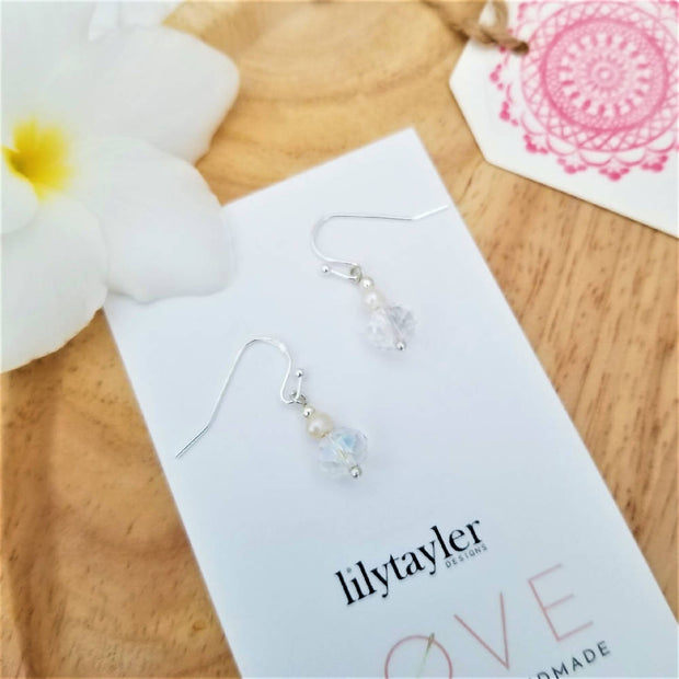 Crystal Pearl Earrings