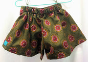 Mandala cotton shorts