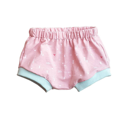 pastel pink nappy cover, girls bummies