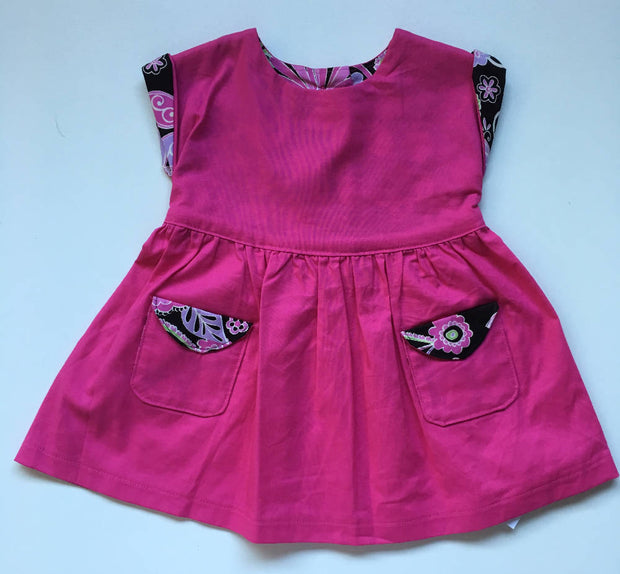 Girls dress with Matching bloomers, size 2