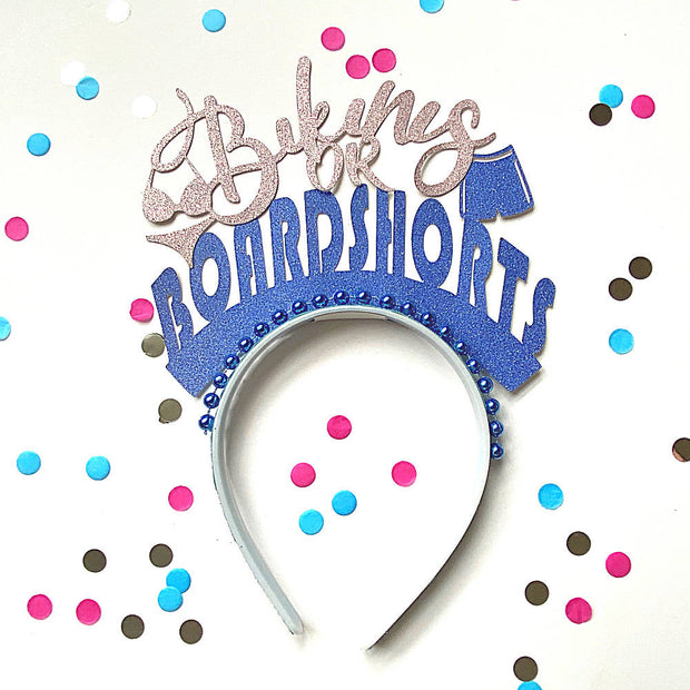 Baby gender reveal/ Baby shower headband
