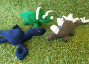 *SALE* Egg to Dinosaur Knitted Toys - (Set of THREE)