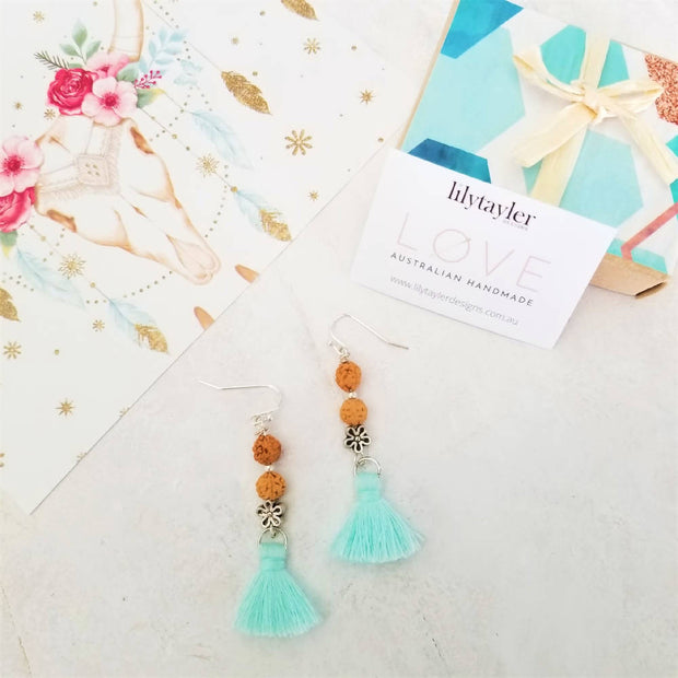 Sale! Boho Flower Earrings