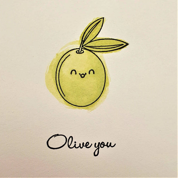 Olive You - Love Card